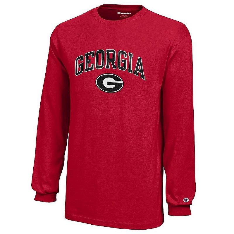 Georgia Bulldogs Kids Long Sleeve Tshirt Arch Red APC03008452