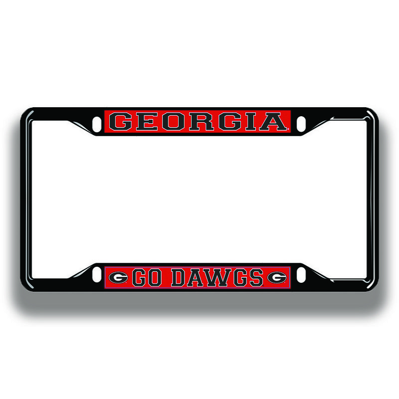 Georgia Bulldogs License Plate Frame Black 04434