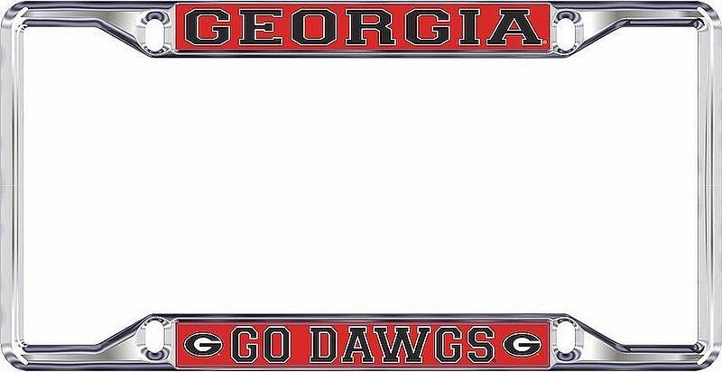 Georgia Bulldogs License Plate Frame Silver 04433