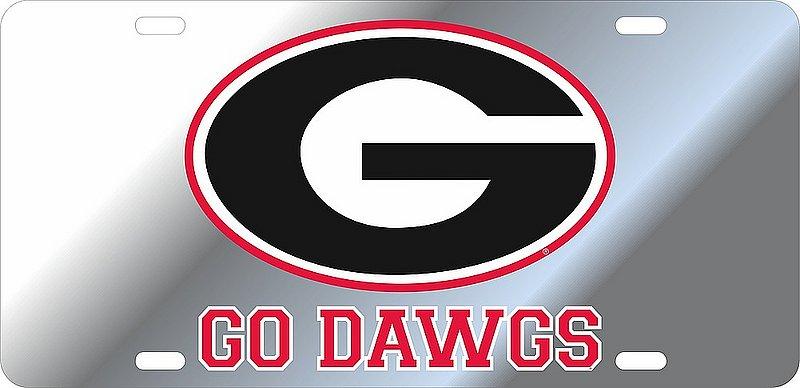 Georgia Bulldogs License Plate Silver 04447