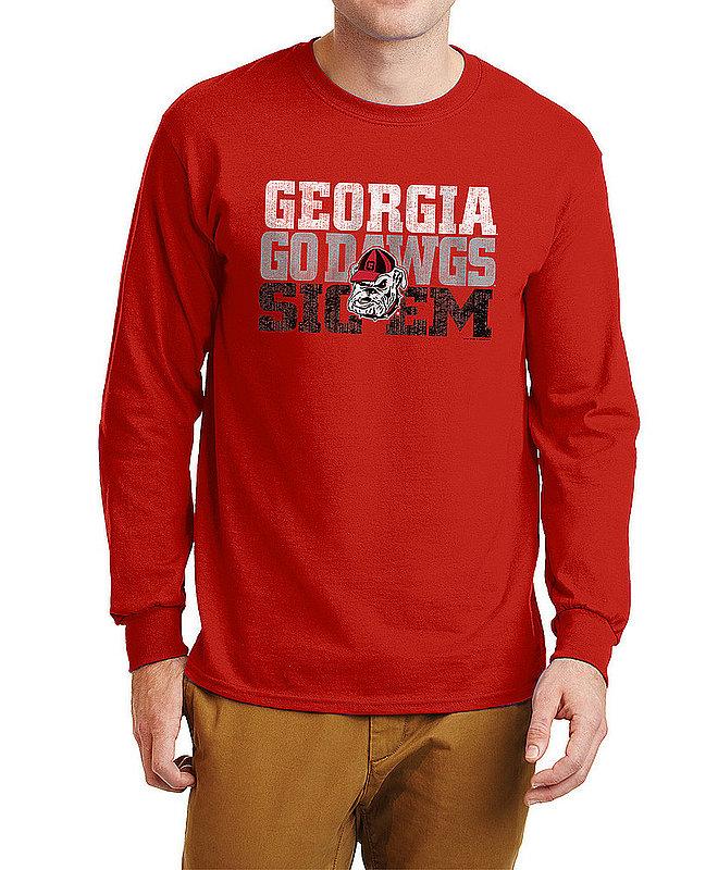Georgia Bulldogs Long Sleeve Tshirt Arch Red P0005488 / APC03317244/ UGACHSC3244HRD