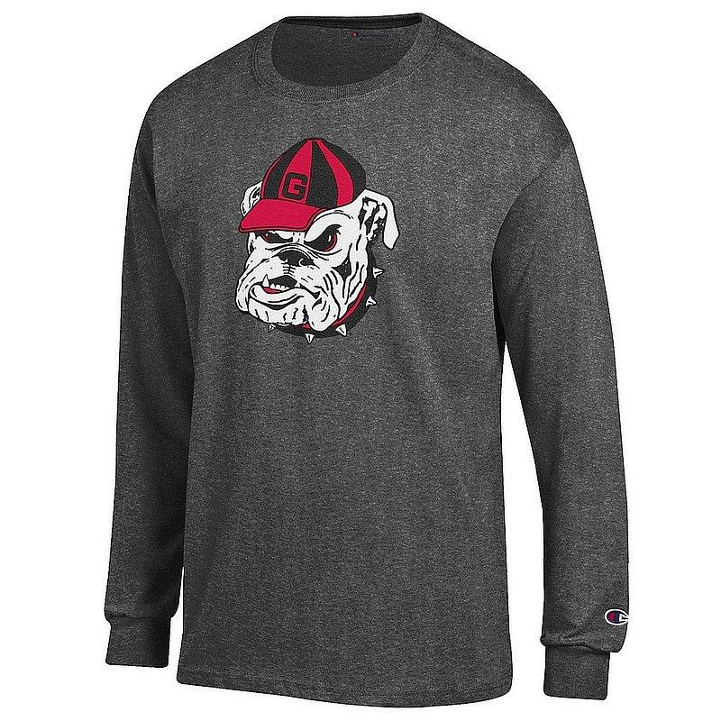 Georgia Bulldogs Long Sleeve Tshirt Charcoal Icon APC03004864