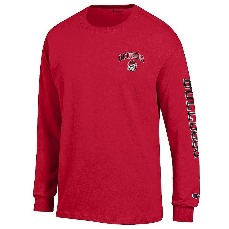 Georgia Bulldogs Long Sleeve Tshirt Letterman Red APC02973710/APC02973709