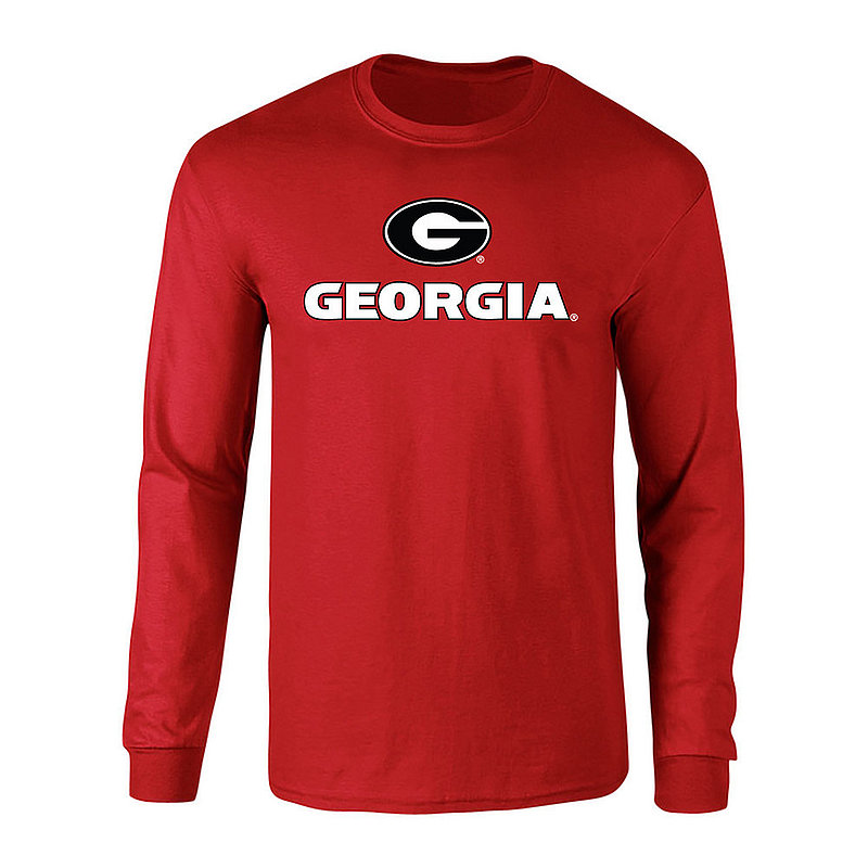 Georgia Bulldogs Long Sleeve Tshirt Plus Size 2X 3X 4X 5X Red