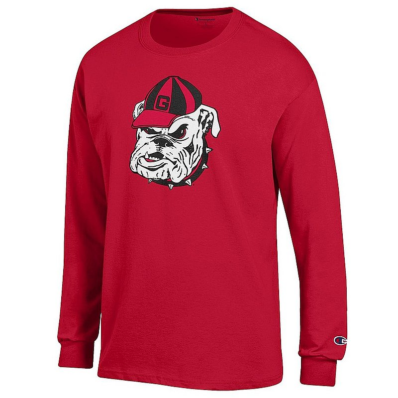 Georgia Bulldogs Long Sleeve Tshirt Red Icon APC03004862