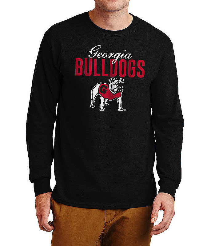 Georgia Bulldogs Long Sleeve TShirt Varsity Black Dawgs APC03006784