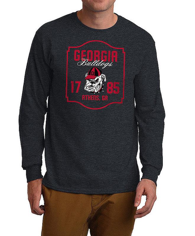 Georgia Bulldogs Long Sleeve Tshirt Varsity Charcoal Team APC02982436