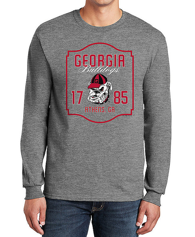 Georgia Bulldogs Long Sleeve TShirt Varsity Gray APC02982436
