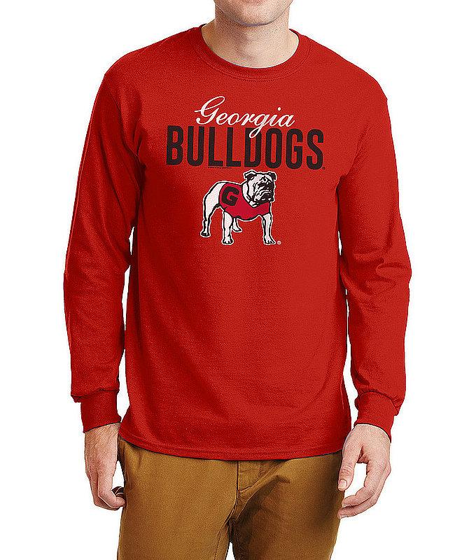 Georgia Bulldogs Long Sleeve Tshirt Varsity Red Dawgs APC02960976