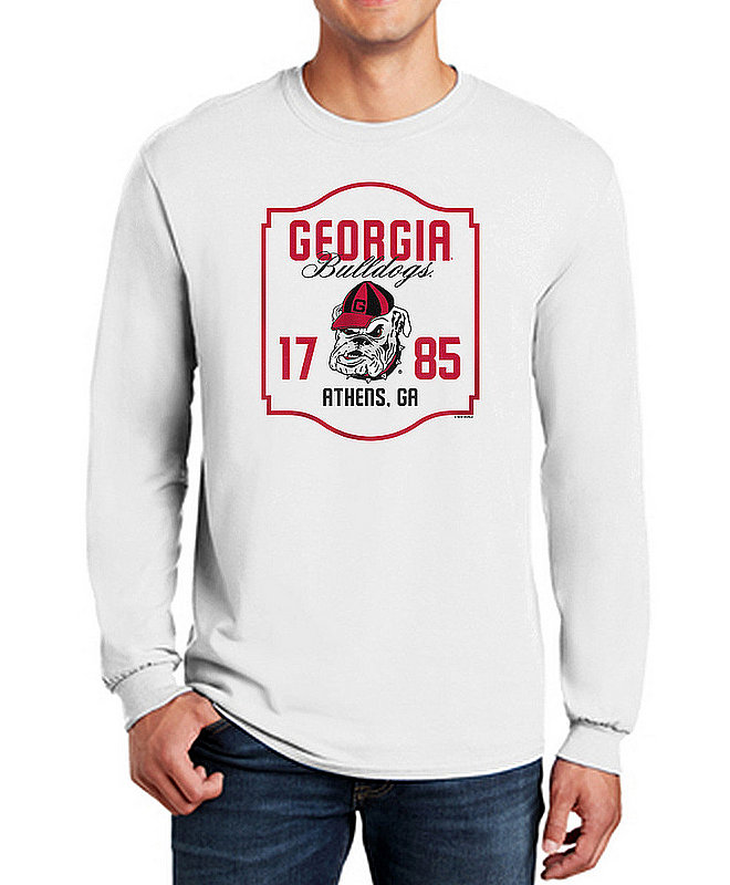 Georgia Bulldogs Long Sleeve TShirt Varsity White Team APC03006376