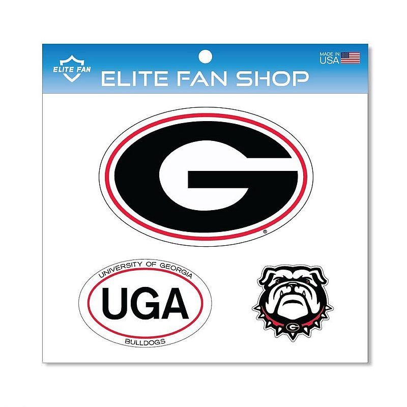 Georgia Bulldogs Magnet 3-Pack