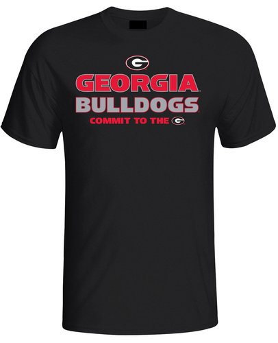 Georgia Bulldogs Mens T Shirt Black GEO1C613