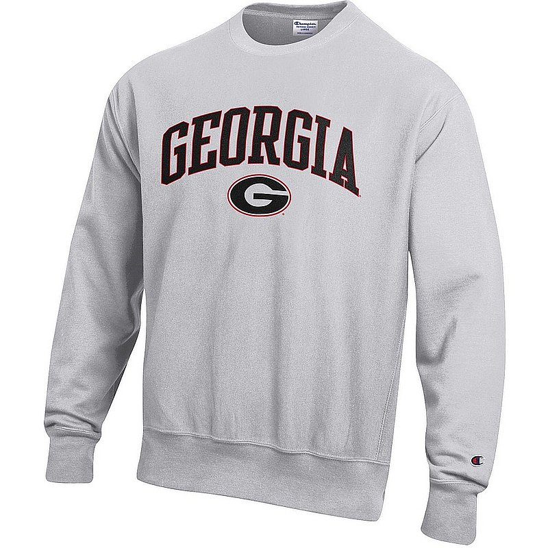 Elite Fan Shop Georgia Bulldogs Crewneck Sweatshirt Black