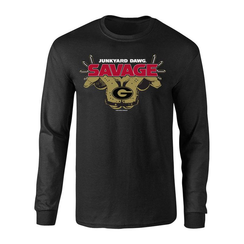Georgia Bulldogs Savage Long Sleeve TShirt Black