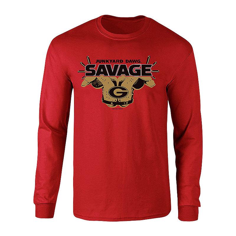 Georgia Bulldogs Savage Long Sleeve TShirt Red