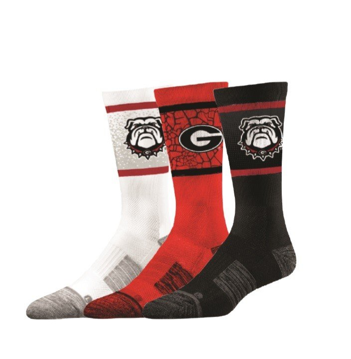 Georgia Bulldogs Socks 3-Pack