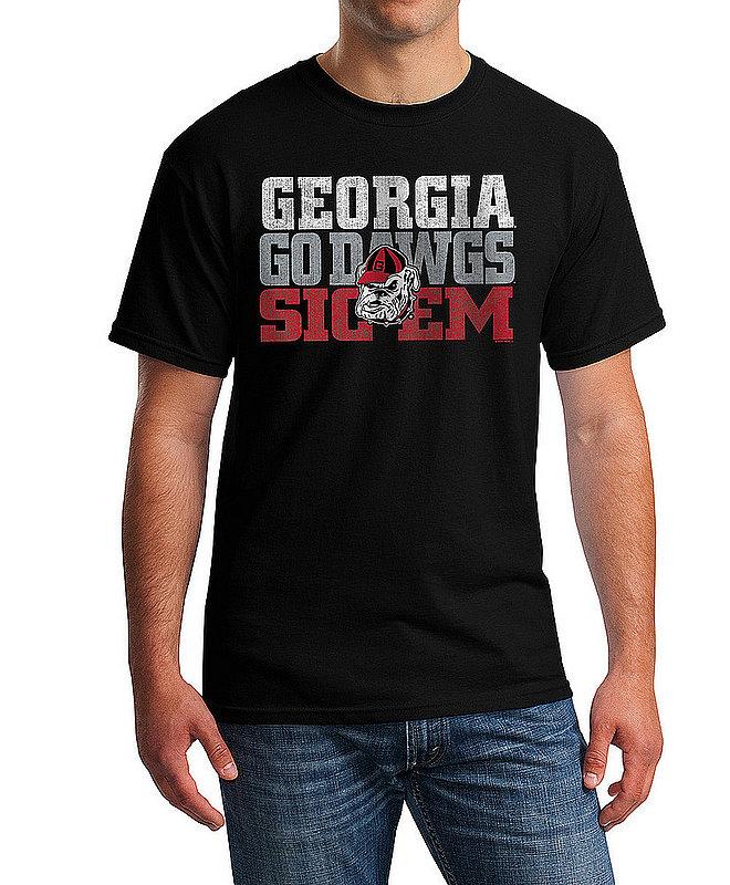 Georgia Bulldogs TShirt Arch Black P0005488