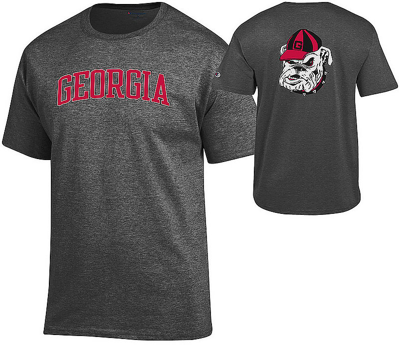 Georgia Bulldogs TShirt Charcoal Back APC03010080/APC03023894