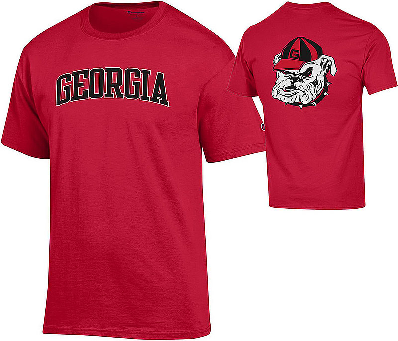 Georgia Bulldogs TShirt Red Back APC03010079/APC03010077