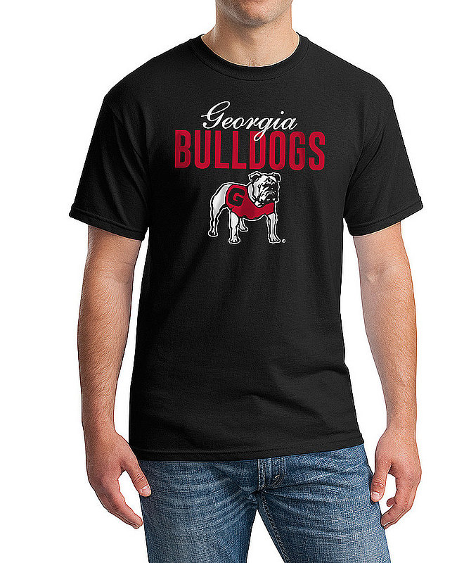 Georgia Bulldogs TShirt Varsity Black Dawgs APC03006784 - UGABLKCHSC3200