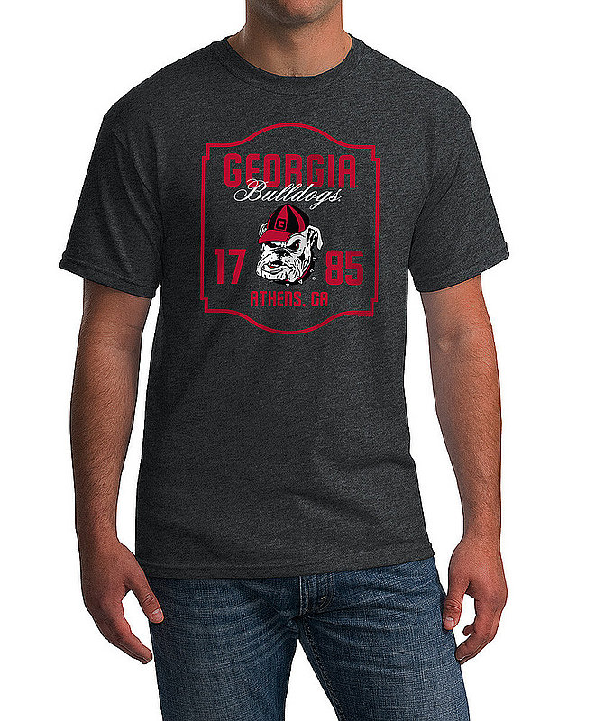 Georgia Bulldogs Tshirt Varsity Charcoal Team APC02982436