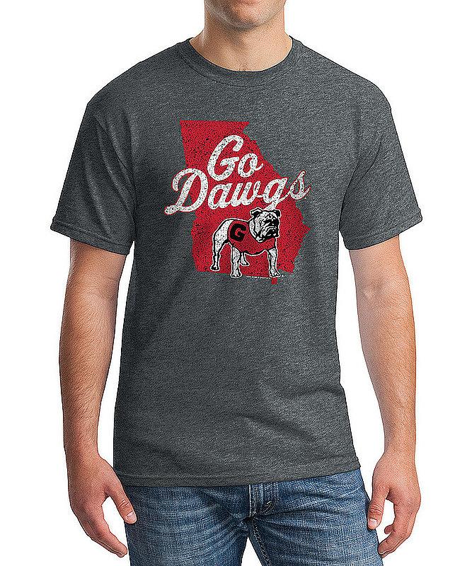 Georgia Bulldogs Tshirt Vintage Icon Charcoal