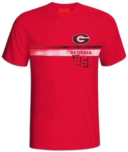 Georgia Bulldogs Vintage T Shirt Stripe GEO1C537