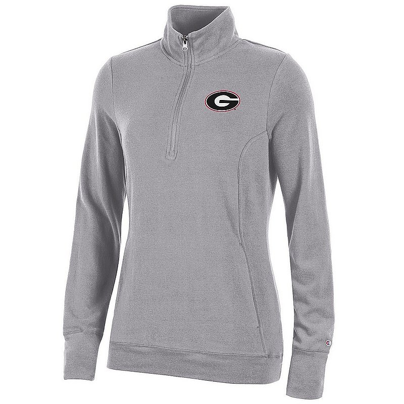 Georgia Bulldogs Women's Quarter Zip Gray APC03319950