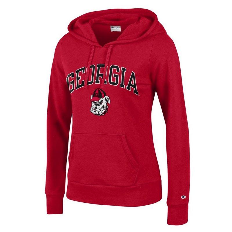 Georgia Bulldogs Womens Hooded Sweatshirt Red Arch APC03146652