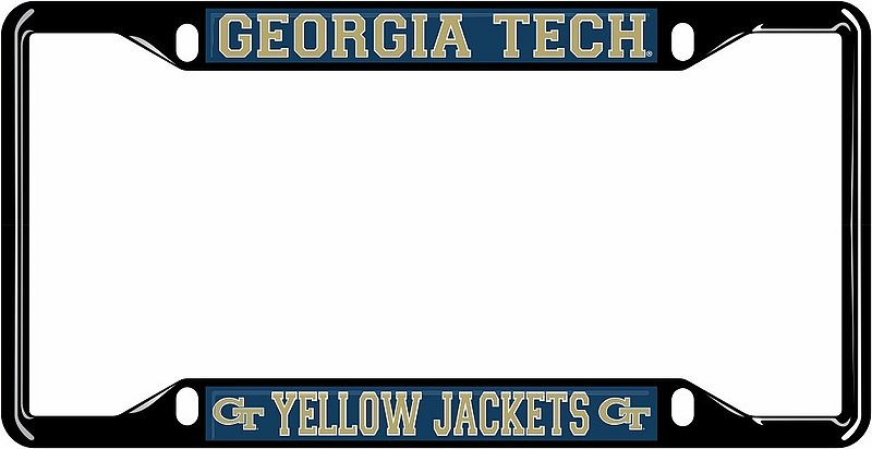 Georgia Tech Yellow Jackets License Plate Frame Black 18206