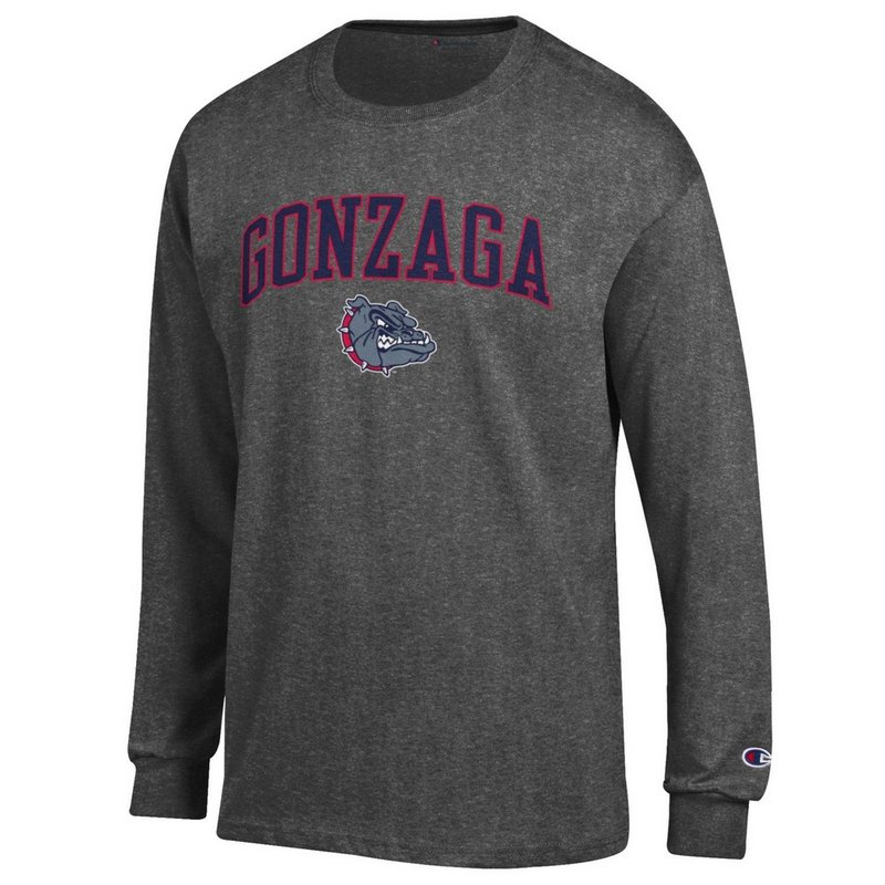 Gonzaga Bulldogs Long Sleeve Tshirt Varsity Charcoal APC03094924