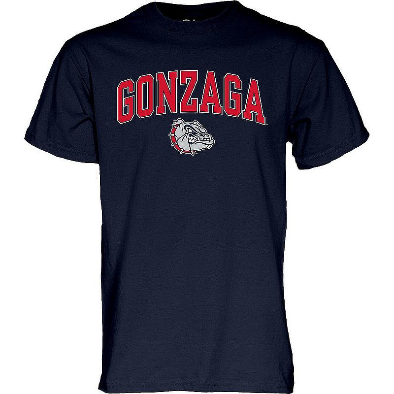 Gonzaga Bulldogs TShirt Varsity Navy Arch Over APC03094922*