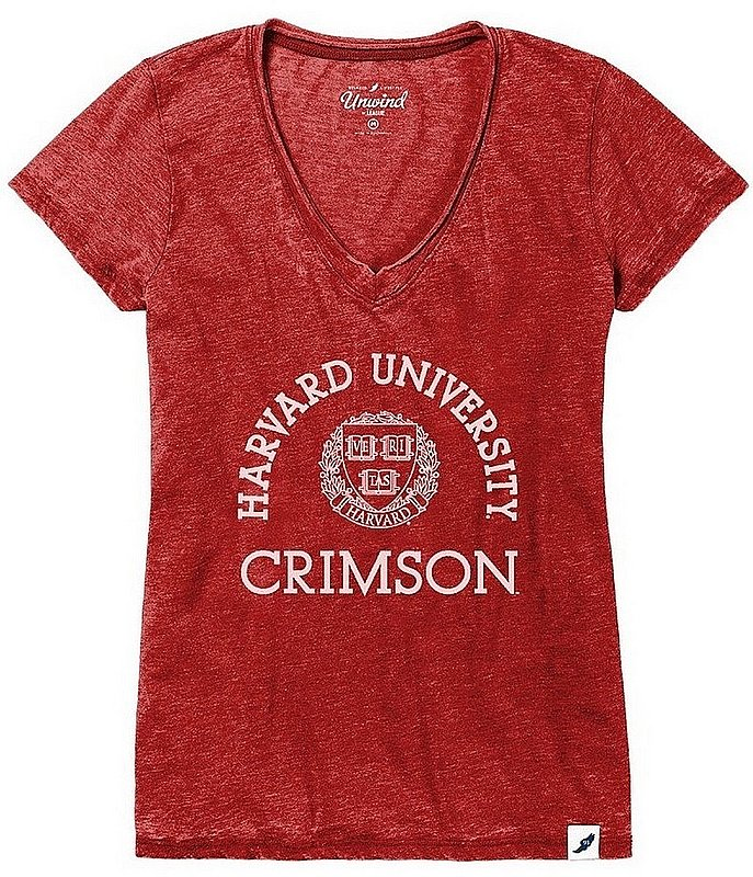 Harvard University Womens Burnout TShirt Arch 626WVD
