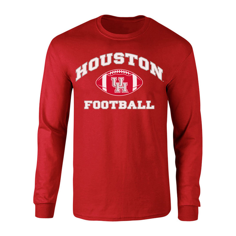Houston Cougars Long Sleeve Tshirt Scarlet P0006710
