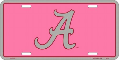Icon Alabama Crimson Tide License Plate Pink (Icon)