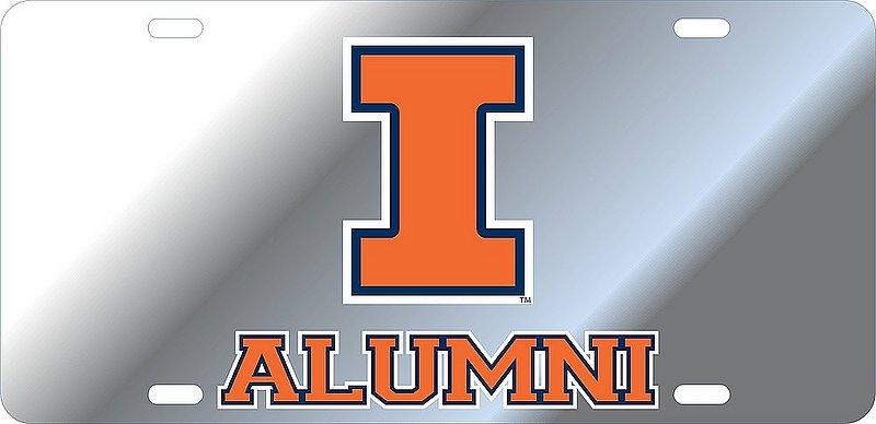 Illinois Fighting Illini License Plate Alumni 14667