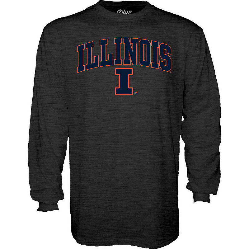Illinois Fighting Illini Long Sleeve Tshirt Varsity Charcoal APC02960978