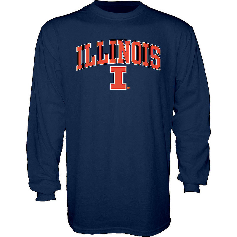 Illinois Fighting Illini Long Sleeve Tshirt Varsity Navy APC02960978