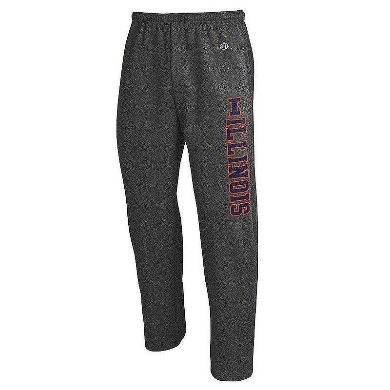 Illinois Fighting Illini Sweatpants Pockets Charcoal APC02964382