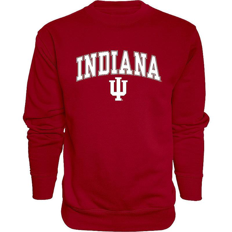 Indiana Hoosiers Crewneck Sweatshirt Varsity Red Arch Over APC02974549*