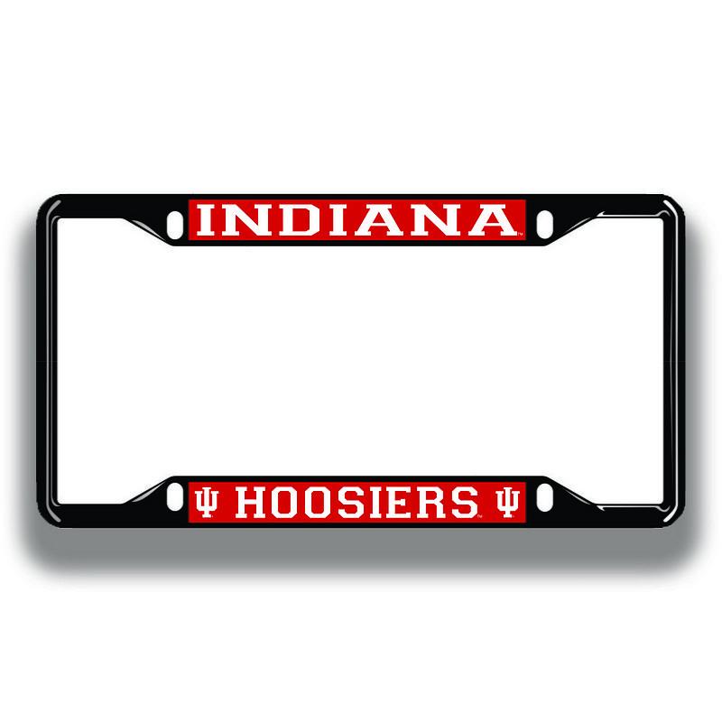 Indiana Hoosiers License Plate Frame Black 15650