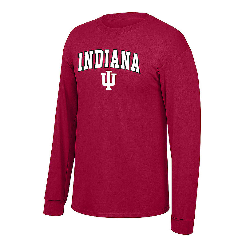 Indiana Hoosiers Long Sleeve Tshirt Arch Red P0006780