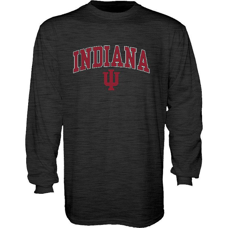 Indiana Hoosiers Long Sleeve Tshirt Varsity Charcoal Arch Over APC02960979*