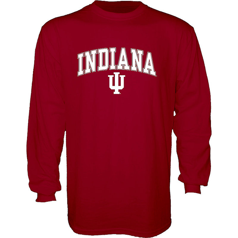 Indiana Hoosiers Long Sleeve Tshirt Varsity Red Arch Over APC02974549*
