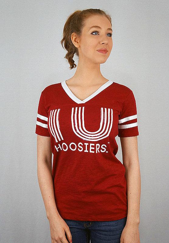 Indiana Hoosiers Women's TShirt Captain Crimson INDJV502
