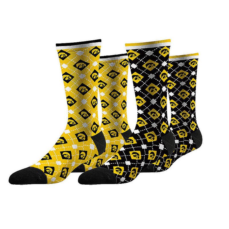 Iowa Hawkeyes Argyle Sock 2-Pack