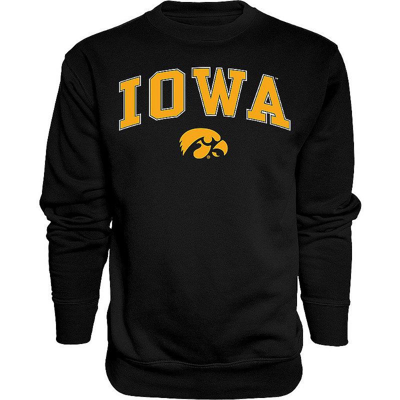 Iowa Hawkeyes Crewneck Sweatshirt Varsity Black Arch Over