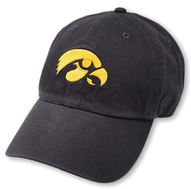 Iowa Hawkeyes Hat Icon Charcoal CHAMP-IA-ADJ-CHR2