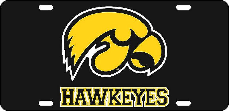 Iowa Hawkeyes License Plate Black 12646