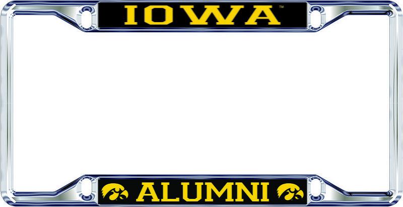 Iowa Hawkeyes License Plate Frame Alumni 12644